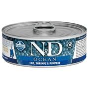 Buy Farmina N&D Ocean Kitten Wet Food Cod,  Shrimp & Pumpkin pack,  80 G